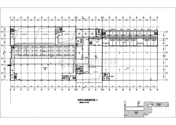 武汉市某造纸厂3.2万平米4层框架车间厂房给排水平面设计CAD图纸-图二