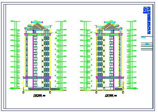 上海某小高层住宅楼cad施工设计图纸-图二
