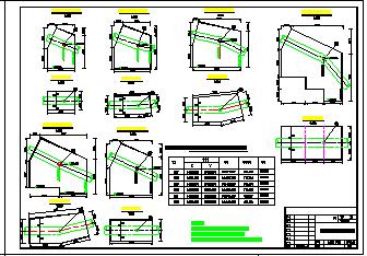 十余种镇墩cad配筋设计图纸-图二