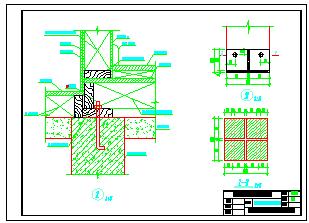 实木材质北美式结构别墅cad建筑设计图-图一