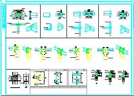 钢框架上门式宿舍楼cad结构设计图-图二