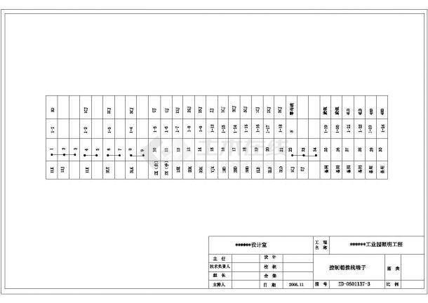 某工业园道路照明cad整图设计方案(含预算)-图二
