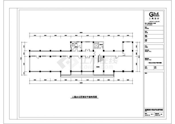 办公楼设计_某省会城市多层建设银行办公楼室内装修设计cad全套施工图纸(含设计说明)-图一