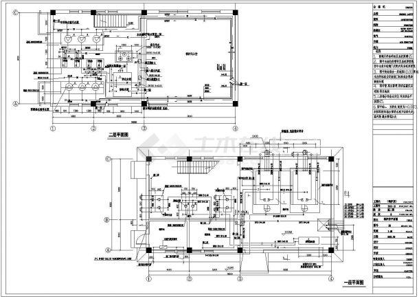 某住宅小区供热锅炉房设计cad全套施工图纸(含设计说明,含采暖供热及建筑设计)-图二