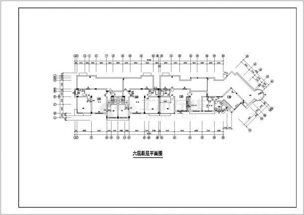 航运新村高层住宅建筑6设计全套施工cad图-图二