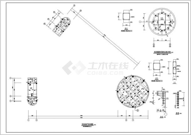 浏阳小区会所设计结构建筑施设计全套施工cad图-图一