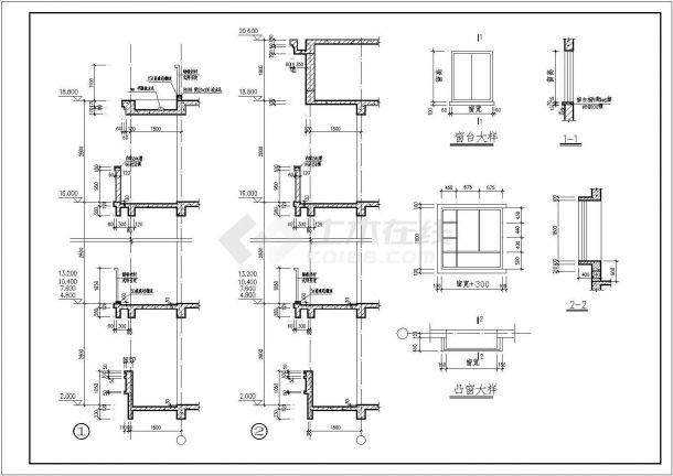 江苏1A小区全套建筑施工设计全套施工cad图-图二
