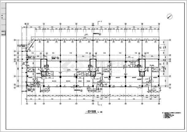 山东住宅小区3.4楼建筑施工图-图一