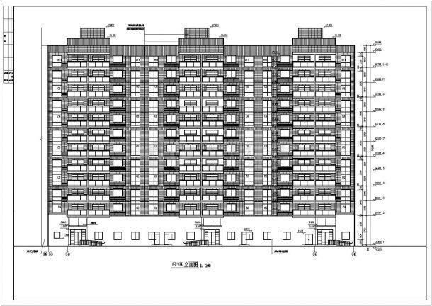 山东住宅小区3.4楼建筑施工图-图二