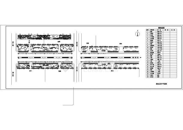 榆树市道路绿化景观设计规划平面cad图纸,共两张-图二