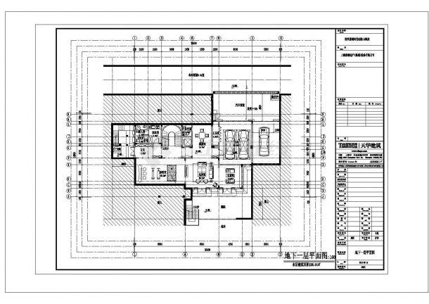 西安市金富新村某680平米双层框混结构独栋别墅建筑设计CAD图纸-图一