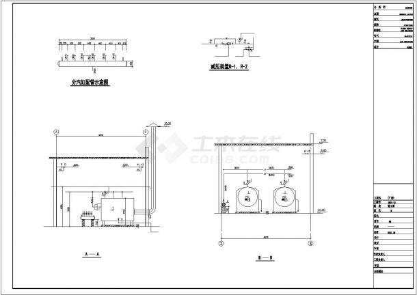 某小区供热锅炉房设计cad施工图-图二