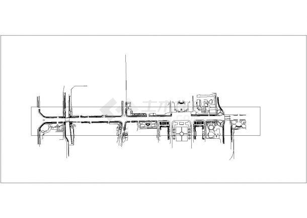 泰安市某地府前道路绿化景观设计规划cad图纸,一份资料-图一