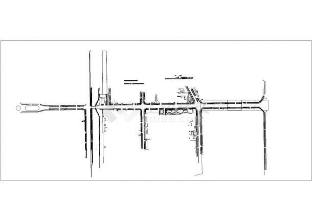 泰安市某地府前道路绿化景观设计规划cad图纸,一份资料-图二