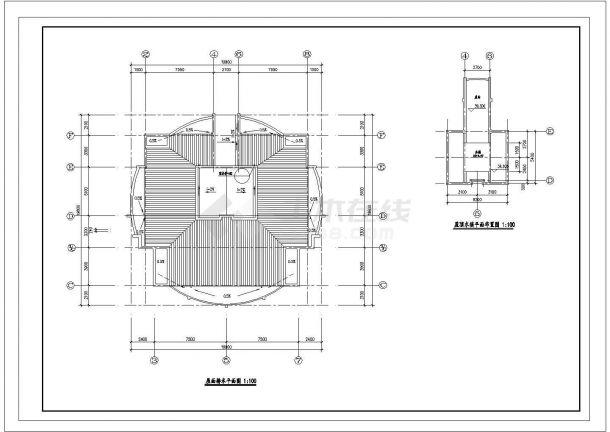 徐州市碧水湾小区13层框架结构住宅楼全套平面设计CAD图纸-图一