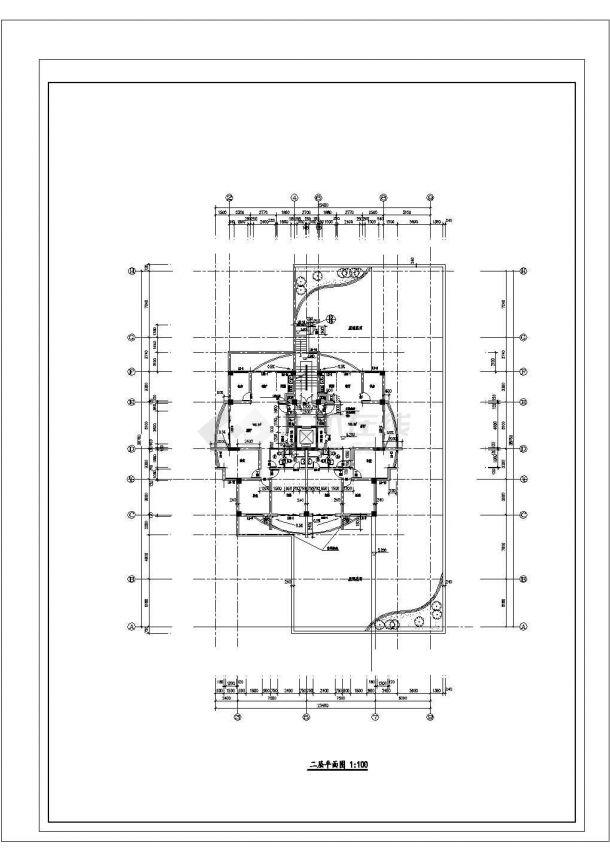 徐州市碧水湾小区13层框架结构住宅楼全套平面设计CAD图纸-图二