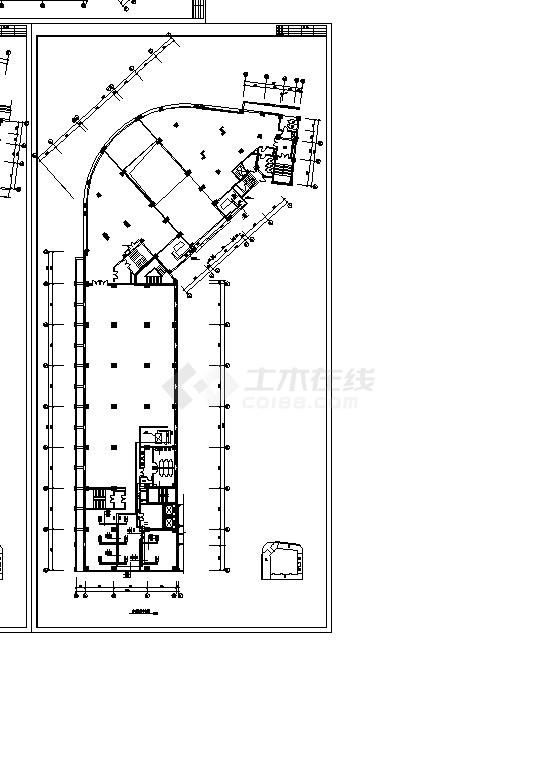 某住宅综合楼舒适性空调及制冷系统设计施工cad图纸-图二