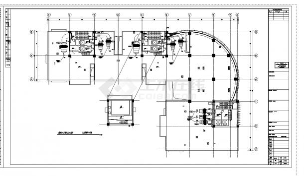 2套某国际商贸中心通风空调及防排烟设计施工cad图纸-图二