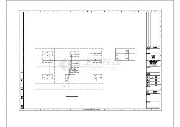某学院图书馆电气方案设计施工CAD图纸-图一