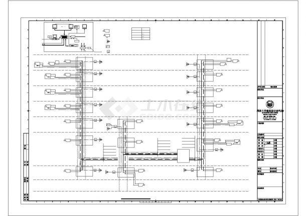 某学院图书馆电气方案设计施工CAD图纸-图二