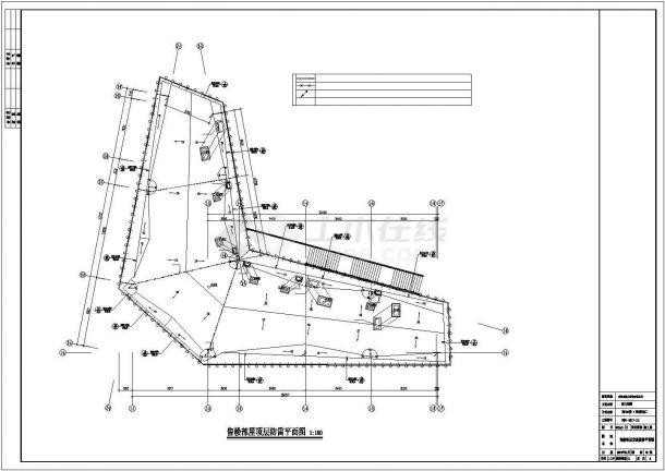 某售楼部装修电气方案设计施工CAD图纸-图一