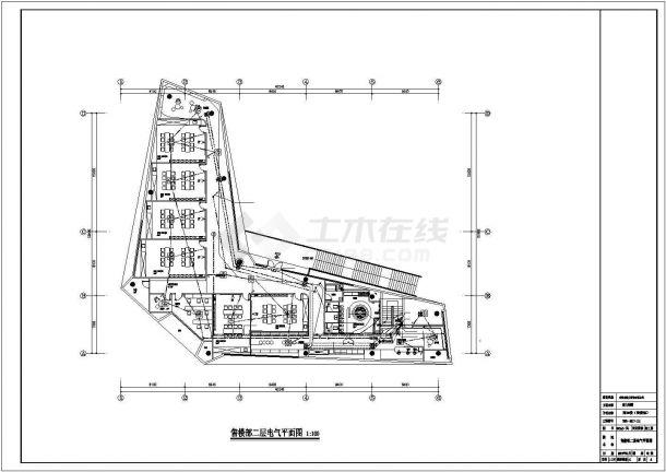 某售楼部装修电气方案设计施工CAD图纸-图二