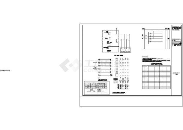 某建筑人防装修电气方案设计施工CAD图纸-图二