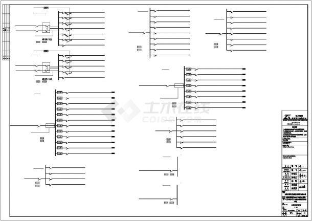 某地区商业建筑电气系统方案设计施工CAD图纸-图一