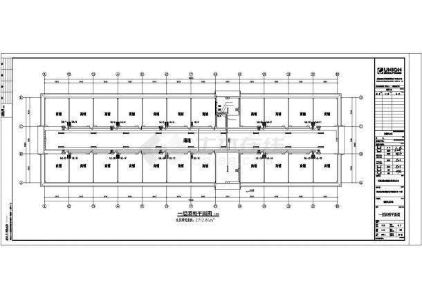 某地区粮油交易市场电气系统方案设计施工CAD图纸-图一