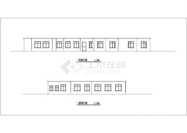 宝鸡市太白山景区内部2层砖混结构休闲会馆全套建筑设计CAD图纸-图一