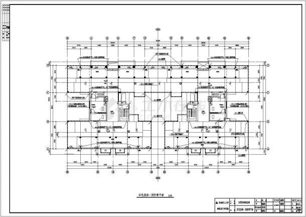 电气设计_某高层商住楼电气全套CAD图-图二