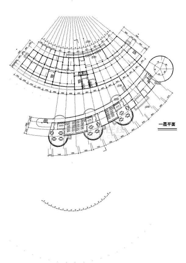 沈阳市清塘路某11层框架结构高档酒店会所全套建筑设计CAD图纸-图二
