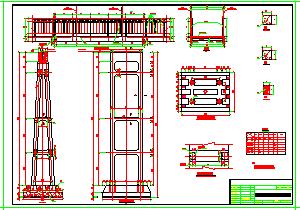 钢索桥整套技术cad施工图-图一