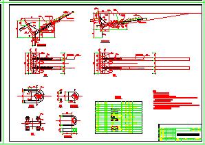 钢索桥整套技术cad施工图-图二