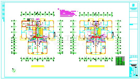 高层住宅楼建筑全套电气cad施工图纸-图一