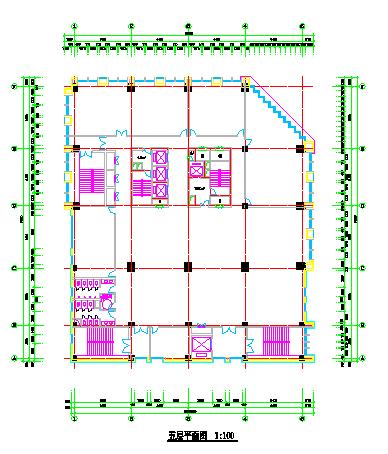 某高层写字楼整套CAD施工图纸附带效果图-图一