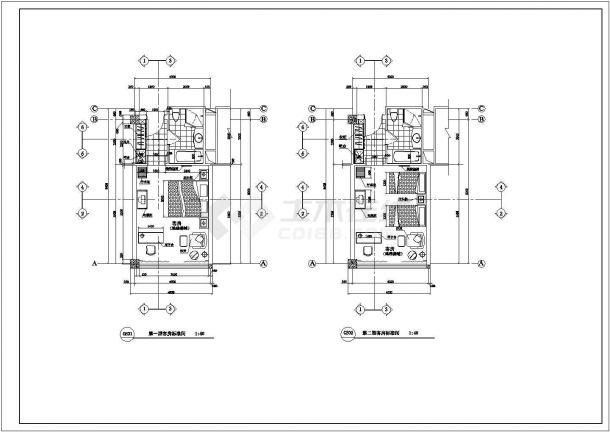 成都市南沈路某高档商务酒店全套客房平面设计CAD图纸-图一