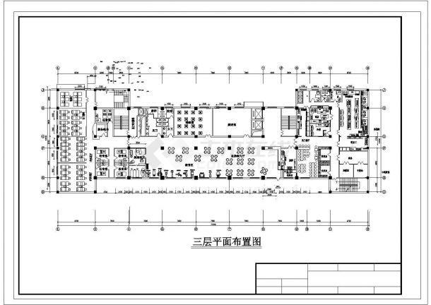 苏州市澄帆路某高档商务酒店3层大堂全套平面布局设计CAD图纸-图一