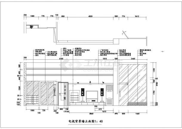 浙江省湖州市某室内家装设计cad平立剖面施工图大样图-图一