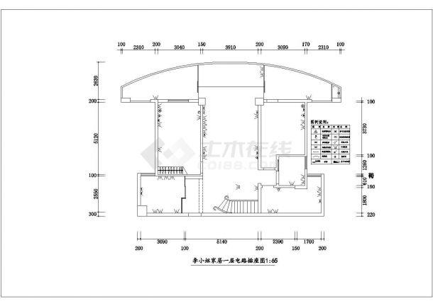 浙江省湖州市某室内家装设计cad平立剖面施工图大样图-图二