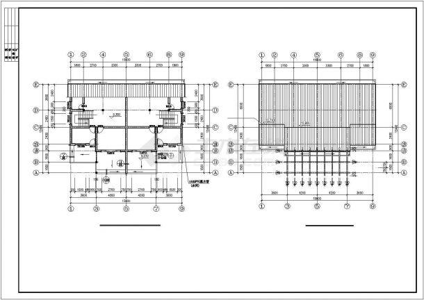 540平米3层砖混结构拆迁安置住宅楼建筑设计CAD图纸(带88平米阁楼)-图二