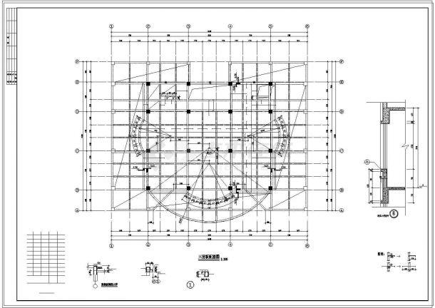 办公楼设计_某劳动局办公楼框架结构设计CAD施工图-图一