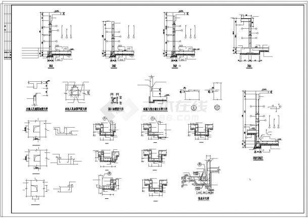 办公楼设计_某劳动局办公楼框架结构设计CAD施工图-图二