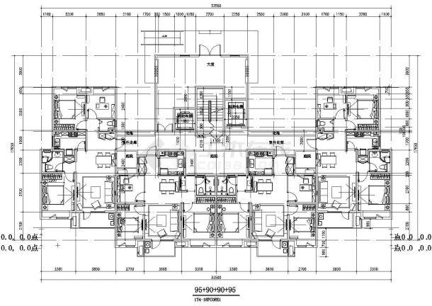 某城市标准化住宅建筑户型设计施工CAD图纸-图一