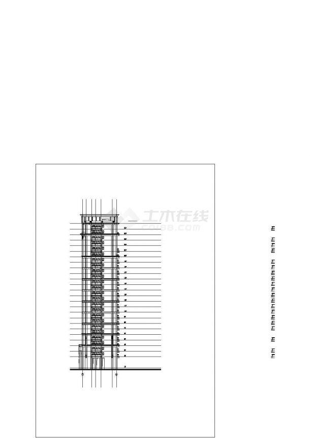 某徐汇区标准化商业建筑设计施工CAD图纸-图一