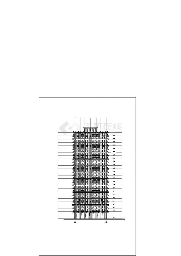 某徐汇区标准化商业建筑设计施工CAD图纸-图二