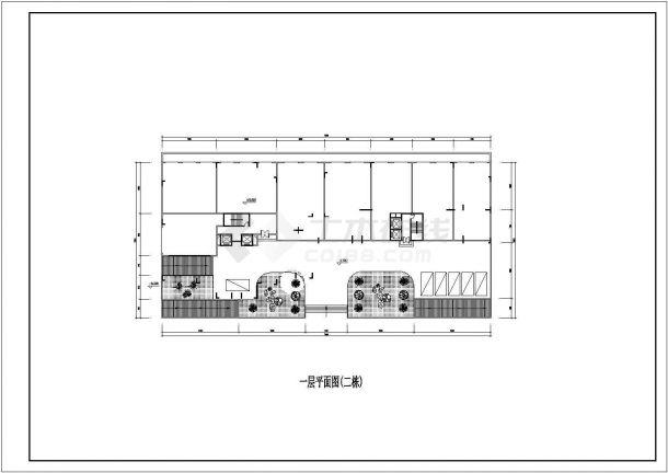 某城市小高层建筑点式户型设计施工CAD图纸-图一