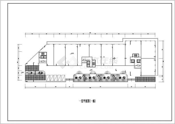 某城市小高层建筑点式户型设计施工CAD图纸-图二