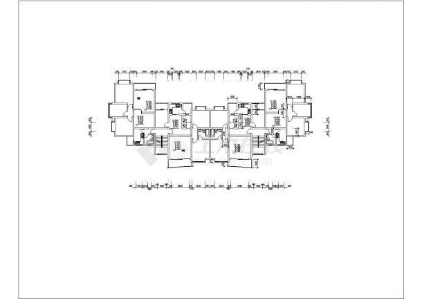 某城市高层建筑点式户型设计施工CAD图纸-图一