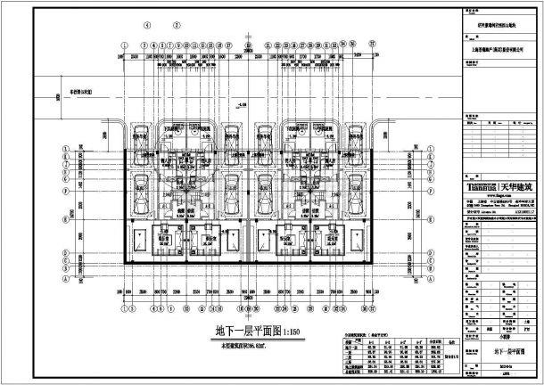 某城市小联排建筑全套设计施工CAD图纸-图二